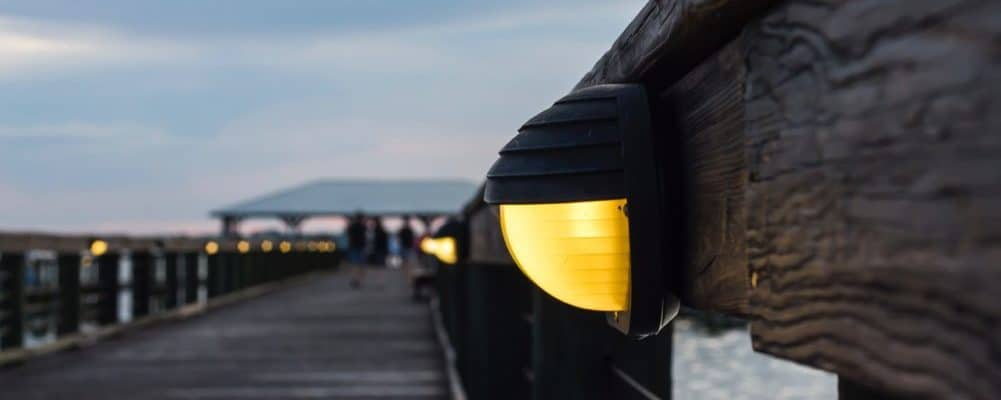 Dock lighting by Vancouver electricians TCA Electric.